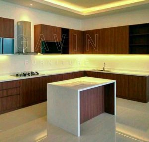 kitchen set letter L dengan Island