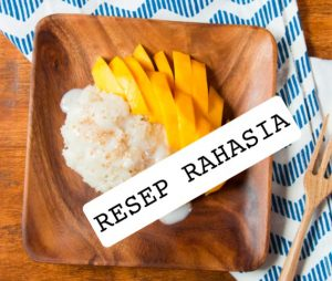 resep mango sticky rice ketan mangga